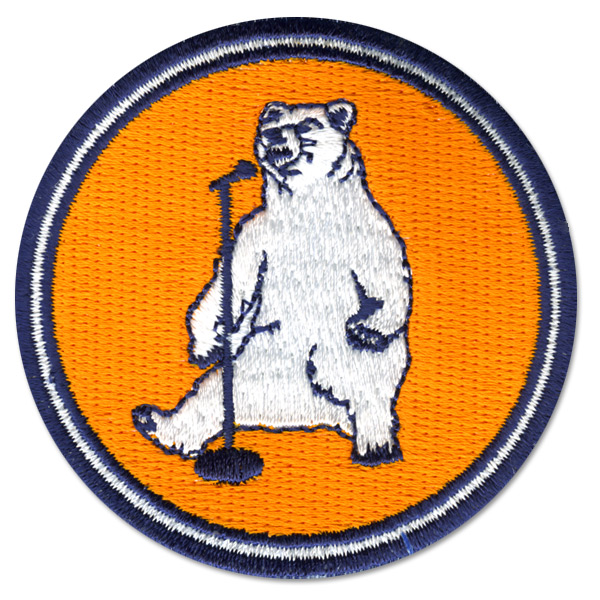 Stand Up Bear Iron On Patch
