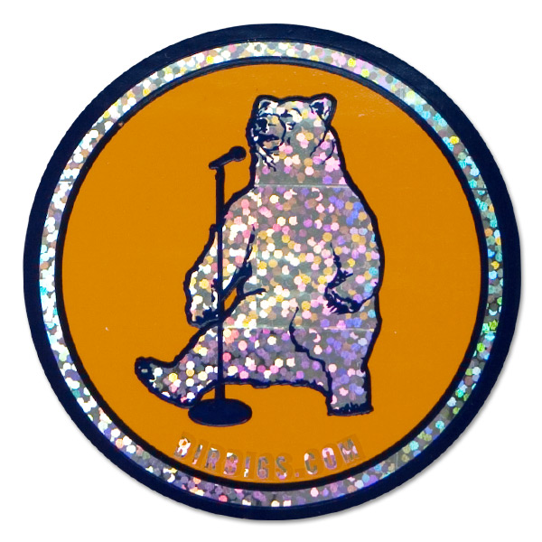 Birbigs! Standup Bear Sparkly Sticker