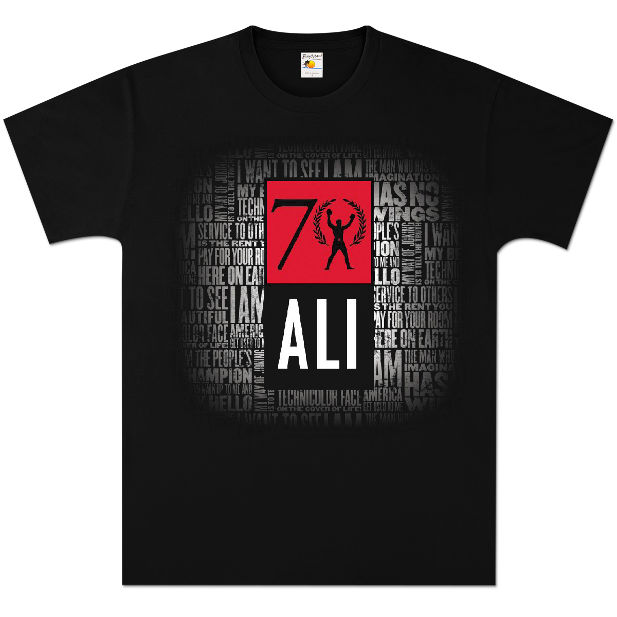 muhammad ali exclusive 70th birthday t shirt. Black Bedroom Furniture Sets. Home Design Ideas
