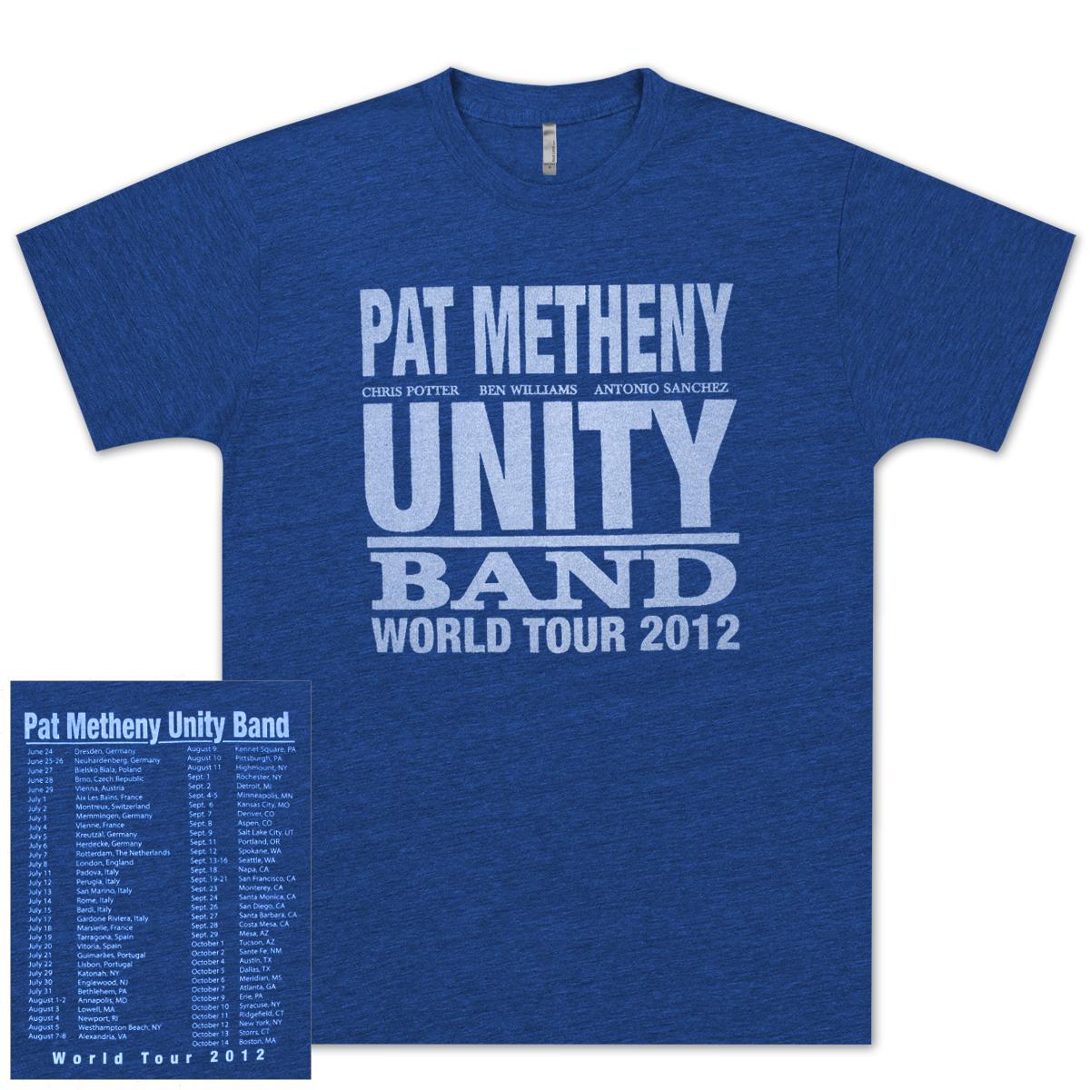 Pat Metheny-Unity Band World Tour 2012 Blue T-Shirt