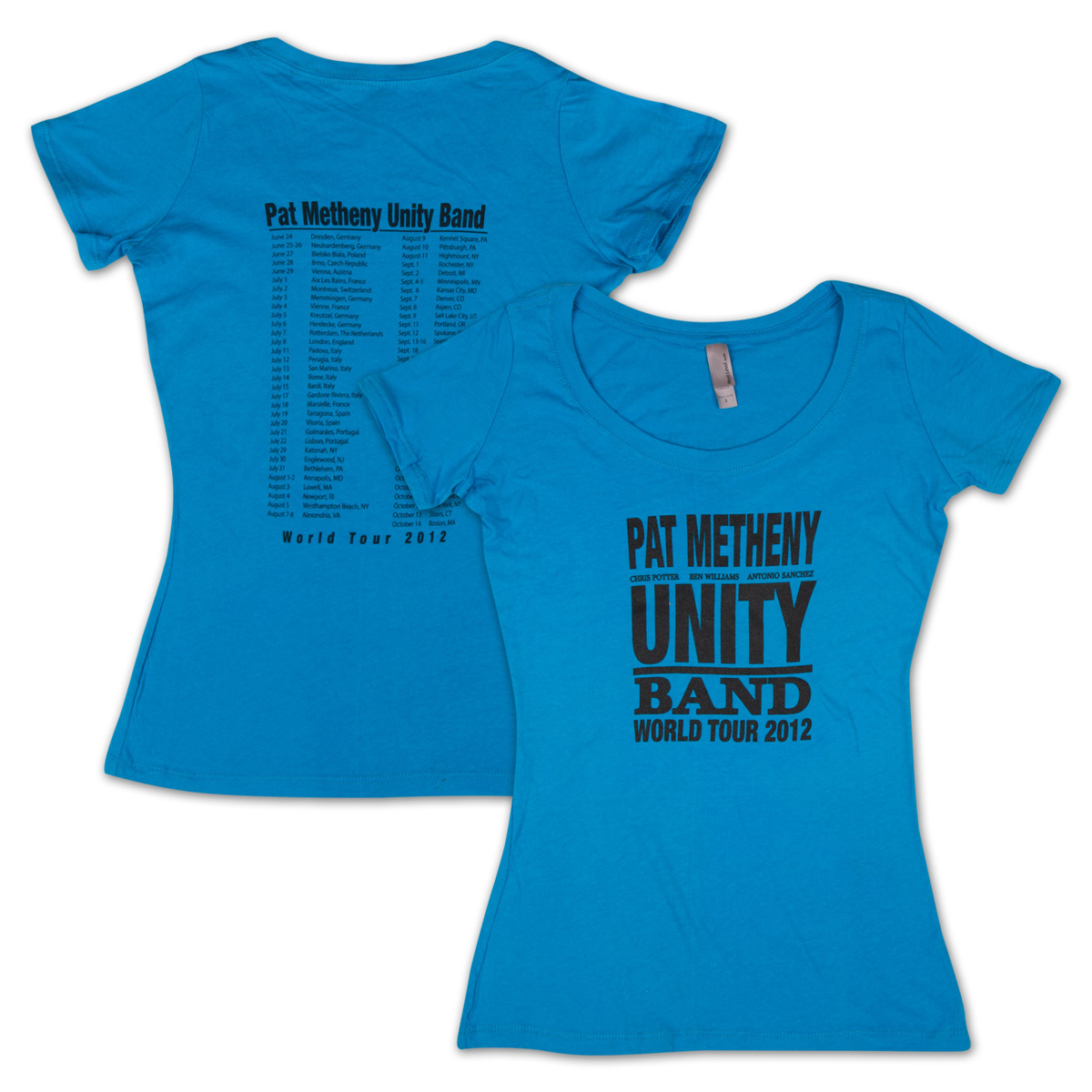 Pat Metheny-Women's Unity Band World Tour 2012 Blue T-Shirt