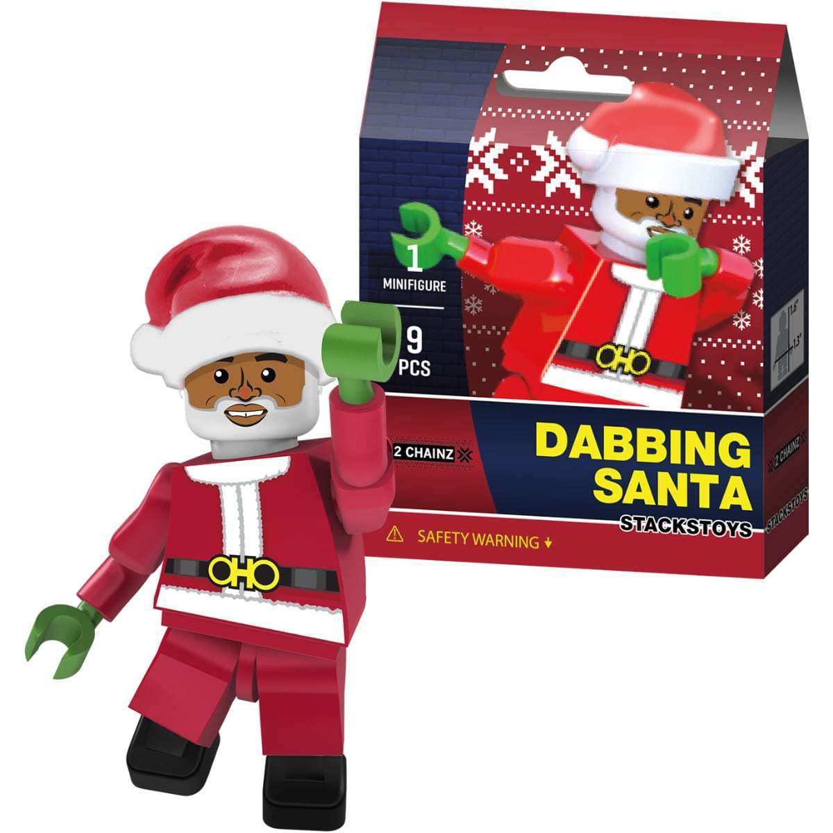 Dabbing Santa Minifigure