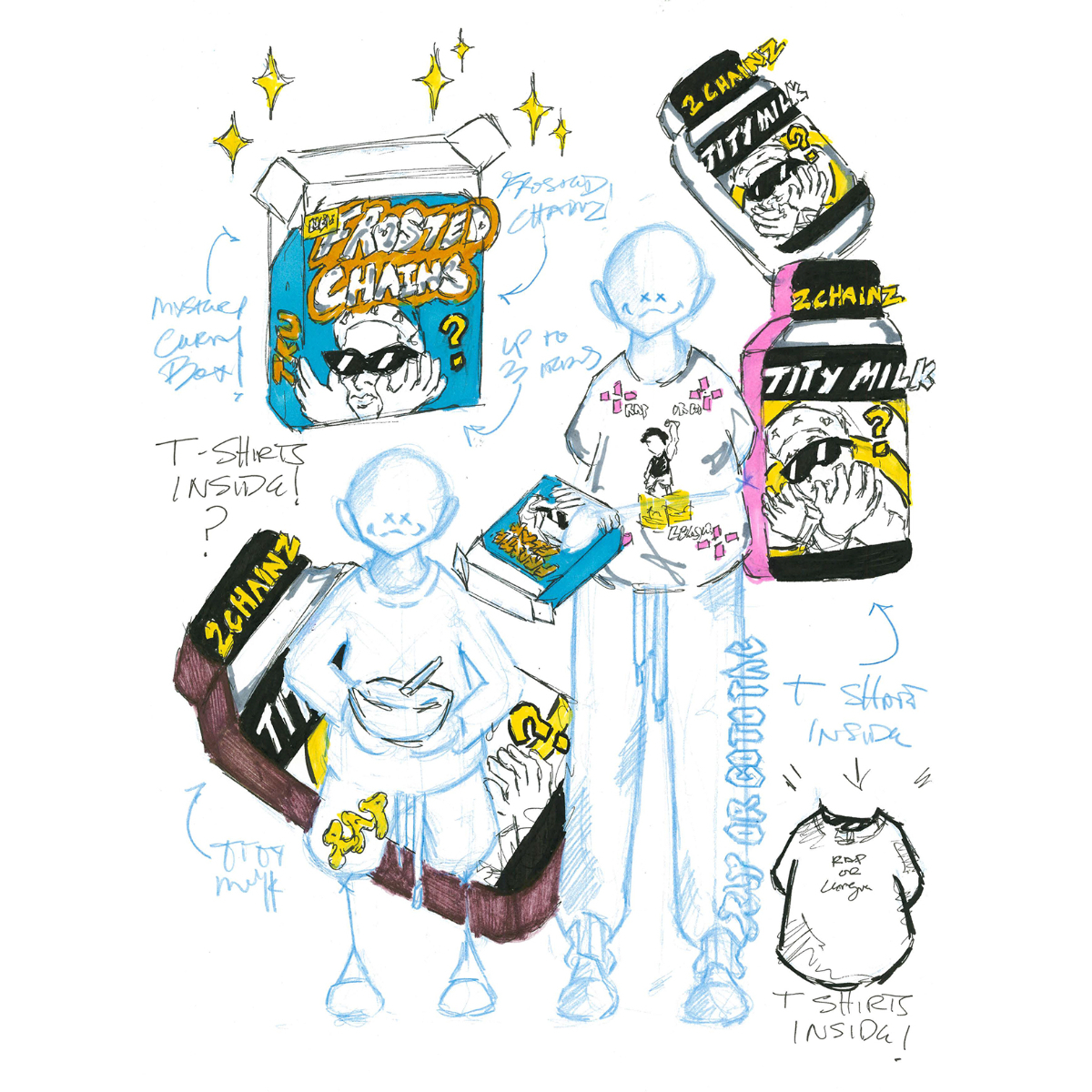 ROGTTL Milk Carton [Brown] with Mystery T-Shirt