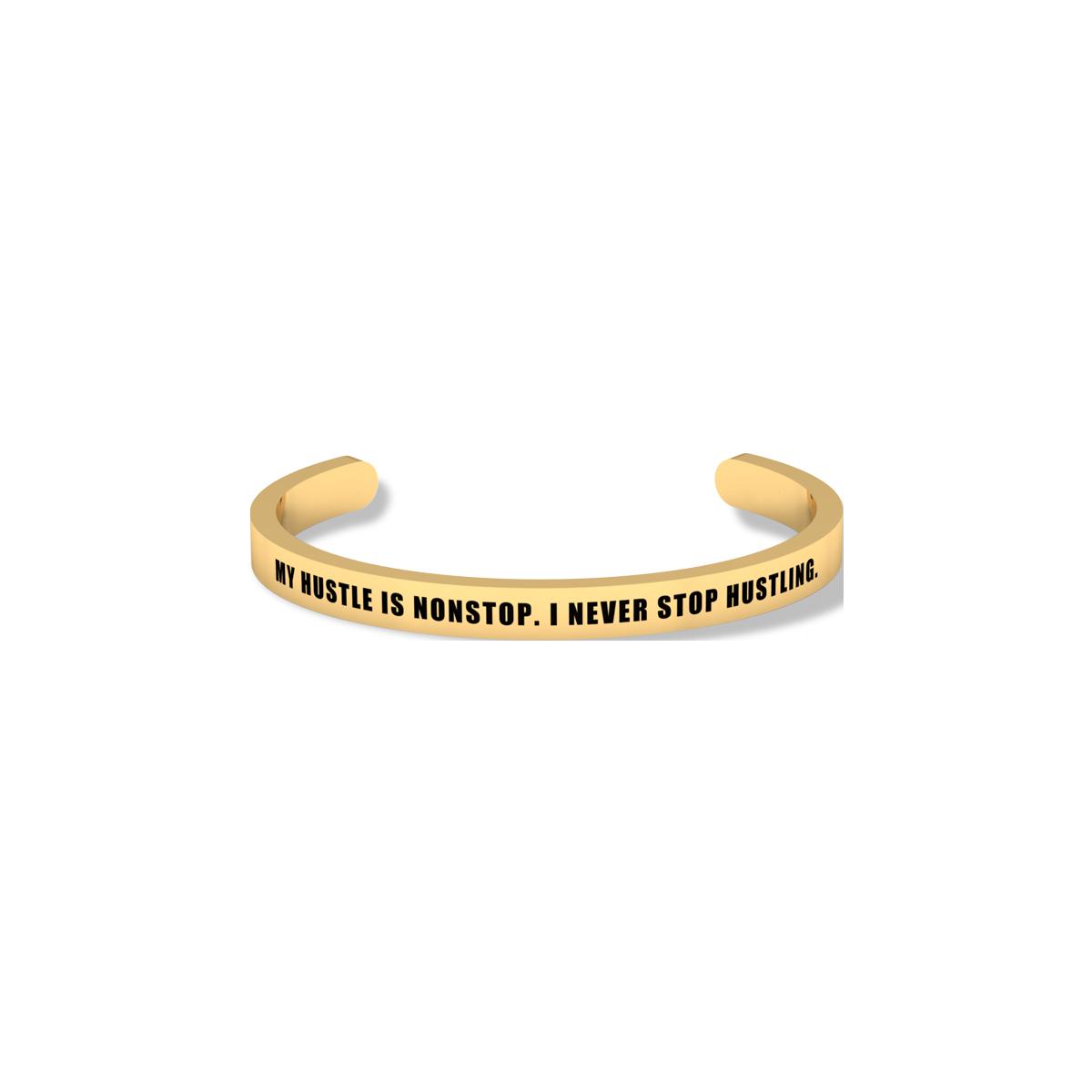 Hustle Yellow Gold Bracelet