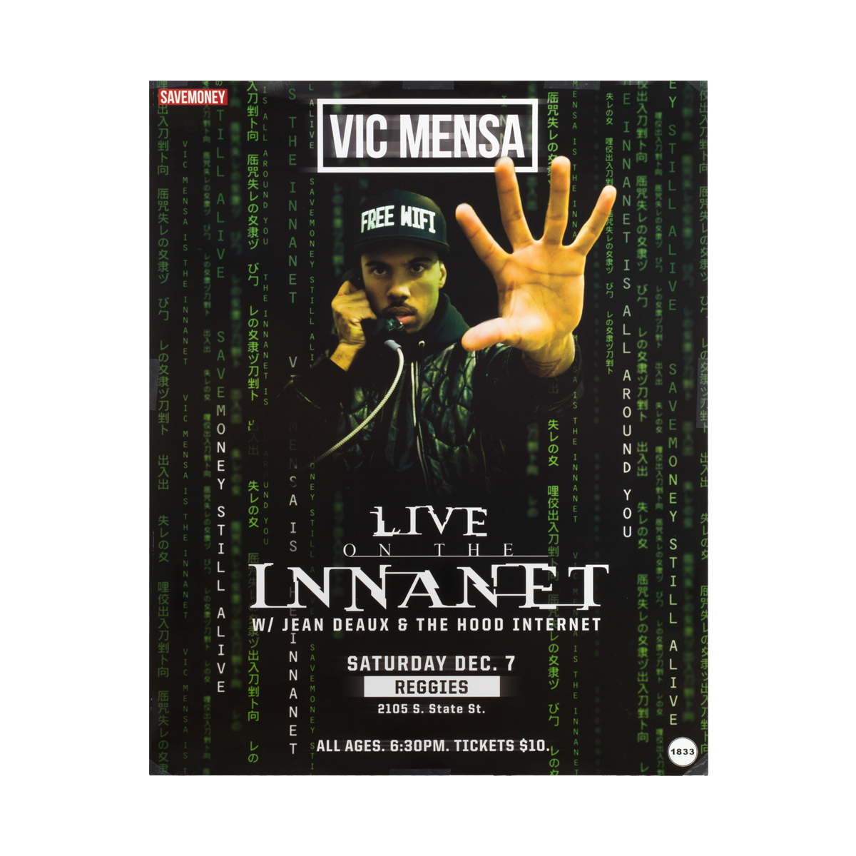 Vic Mensa Live on the Internet Poster