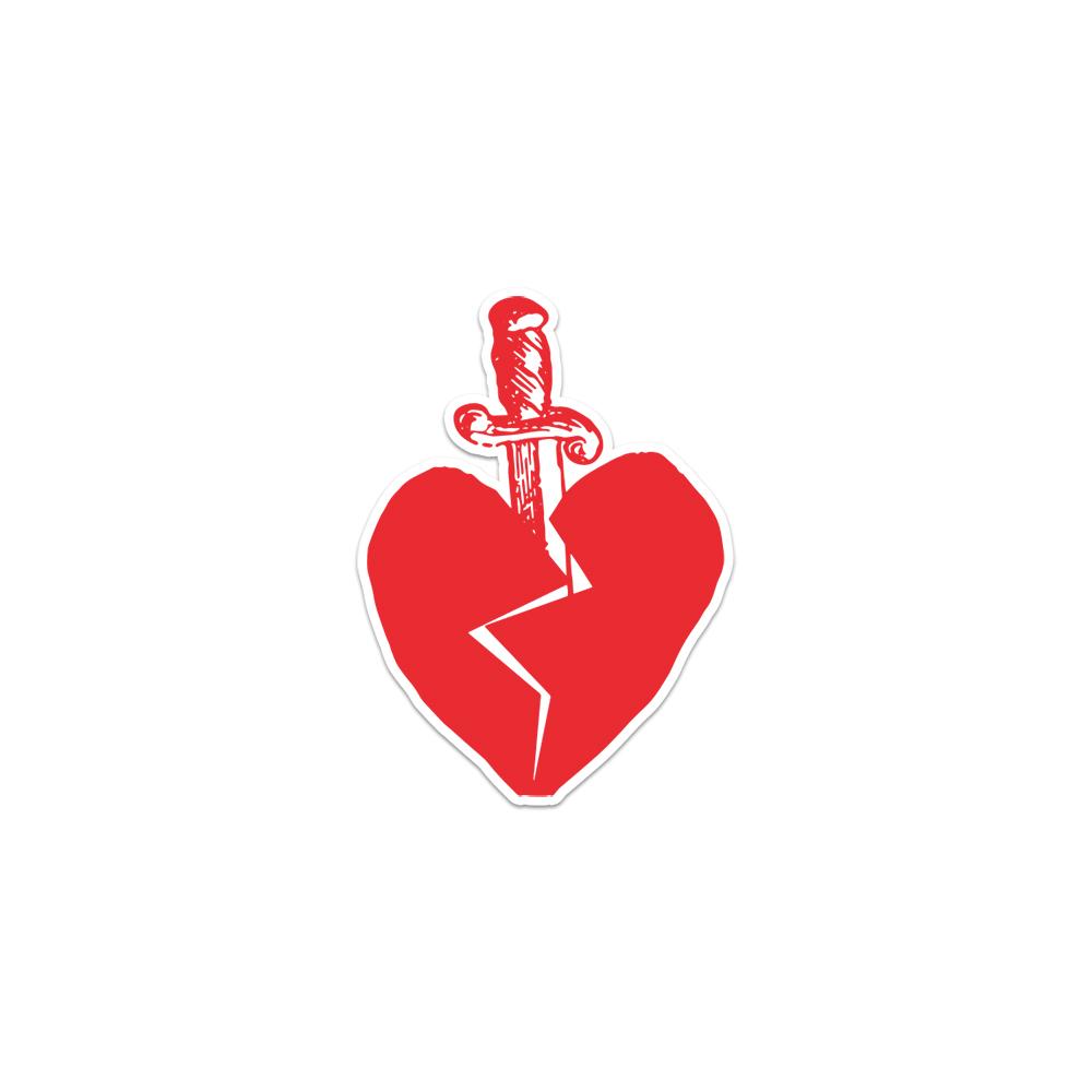 No Heart Die-Cut Sticker