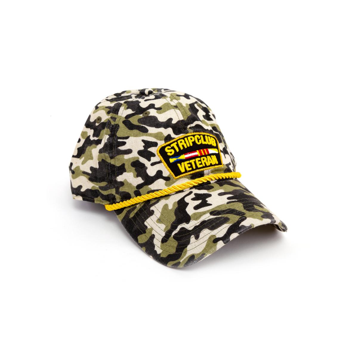 Strip Club Veteran Dad Hat - Camo