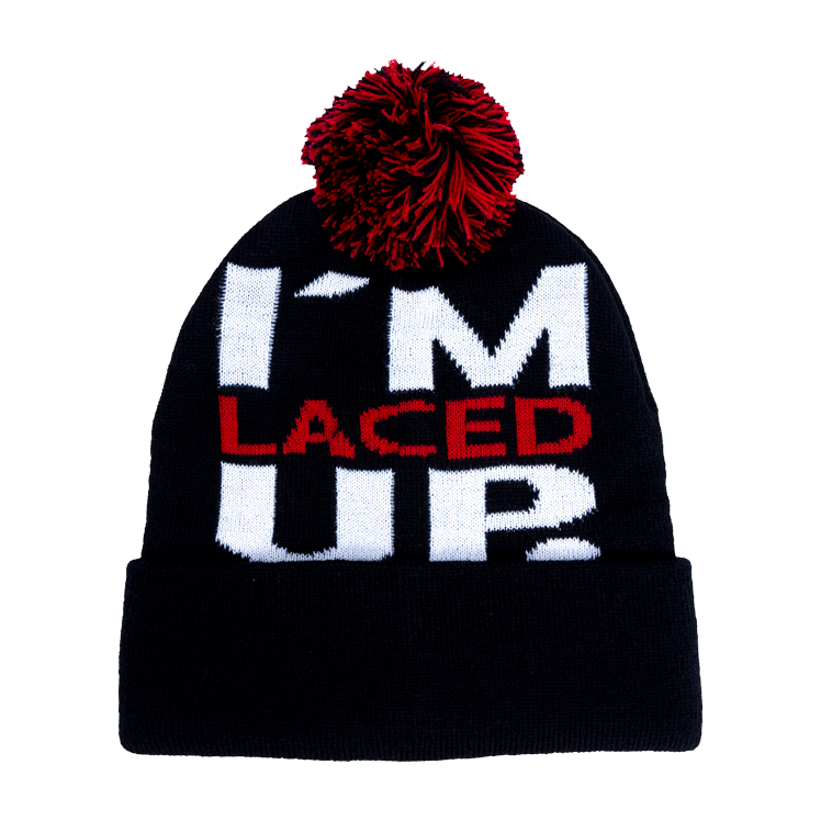 I'm Laced Up Pom Beanie