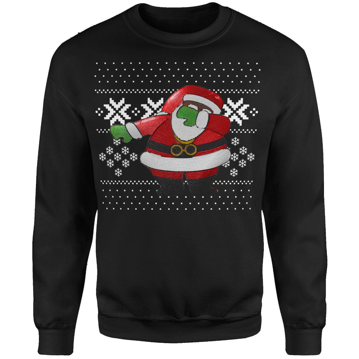Dabbin Santa OG Sequin Sweatshirt [Black]