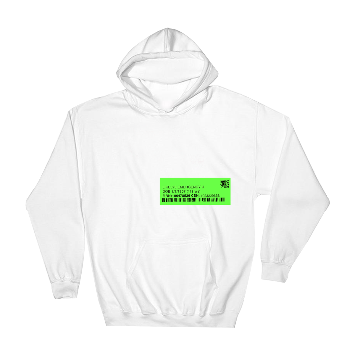 Cross Out Hoodie (White)
