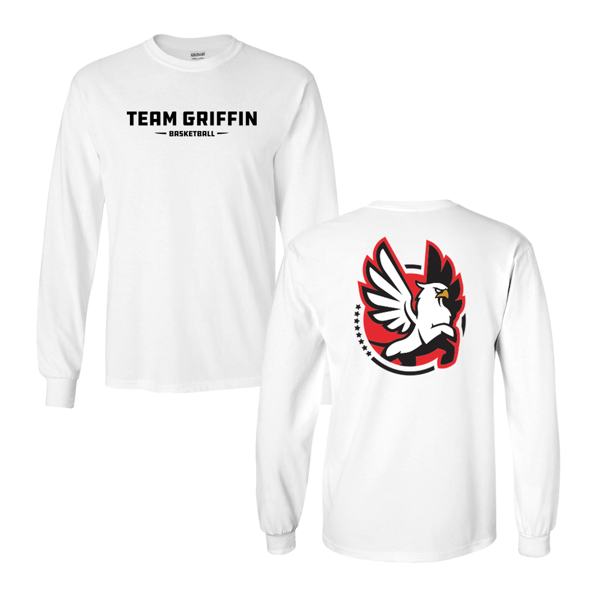 Team Griffin Long Sleeve Tee (White)