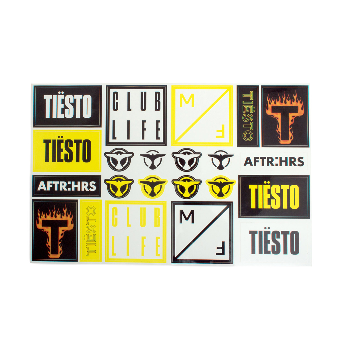 Tiësto Vinyl Sticker Sheet
