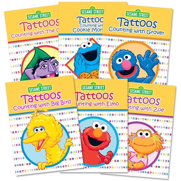 Sesame Street Counting Tattoo Book Bundle