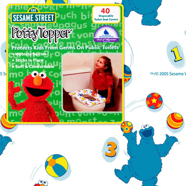 Sesame Street Potty Topper 40-ct