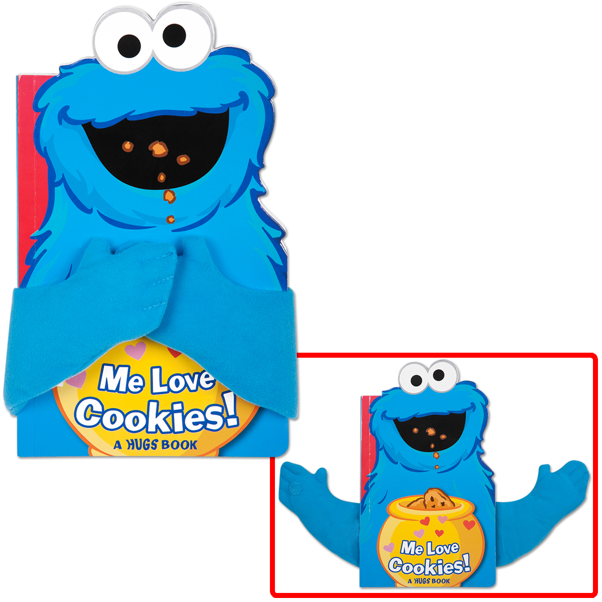 Cookie Monster Me Love Cookies Hugs Book