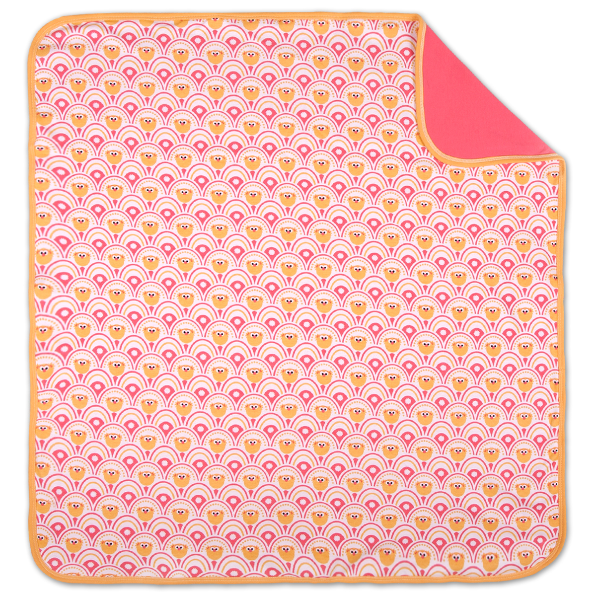 Zoe Blossoms Reversible Baby Blanket