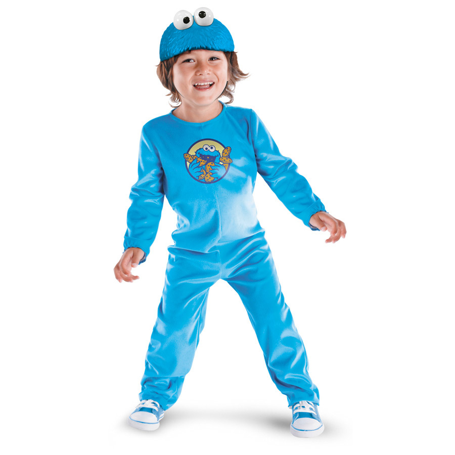 More on Sesame Street Baby Cookie Monster Costume: Me want a cute Cookie Monster Costume. Your little one looks cute enough to eat in this fuzzy blue Cookie Monster jumpsuit. Your little one looks cute enough to eat in this fuzzy blue Cookie Monster jumpsuit.