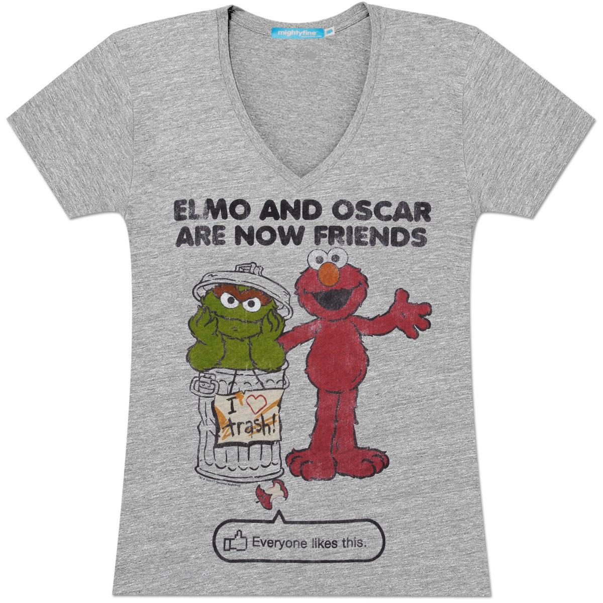 Elmo & Oscar Friends Juniors T-Shirt