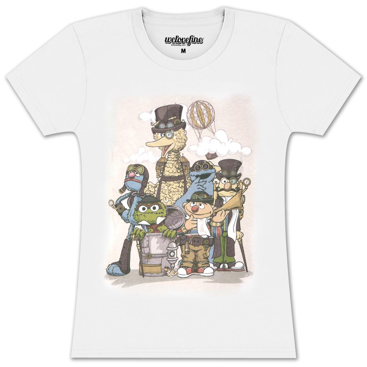 Steampunk Sesame Juniors T-shirt