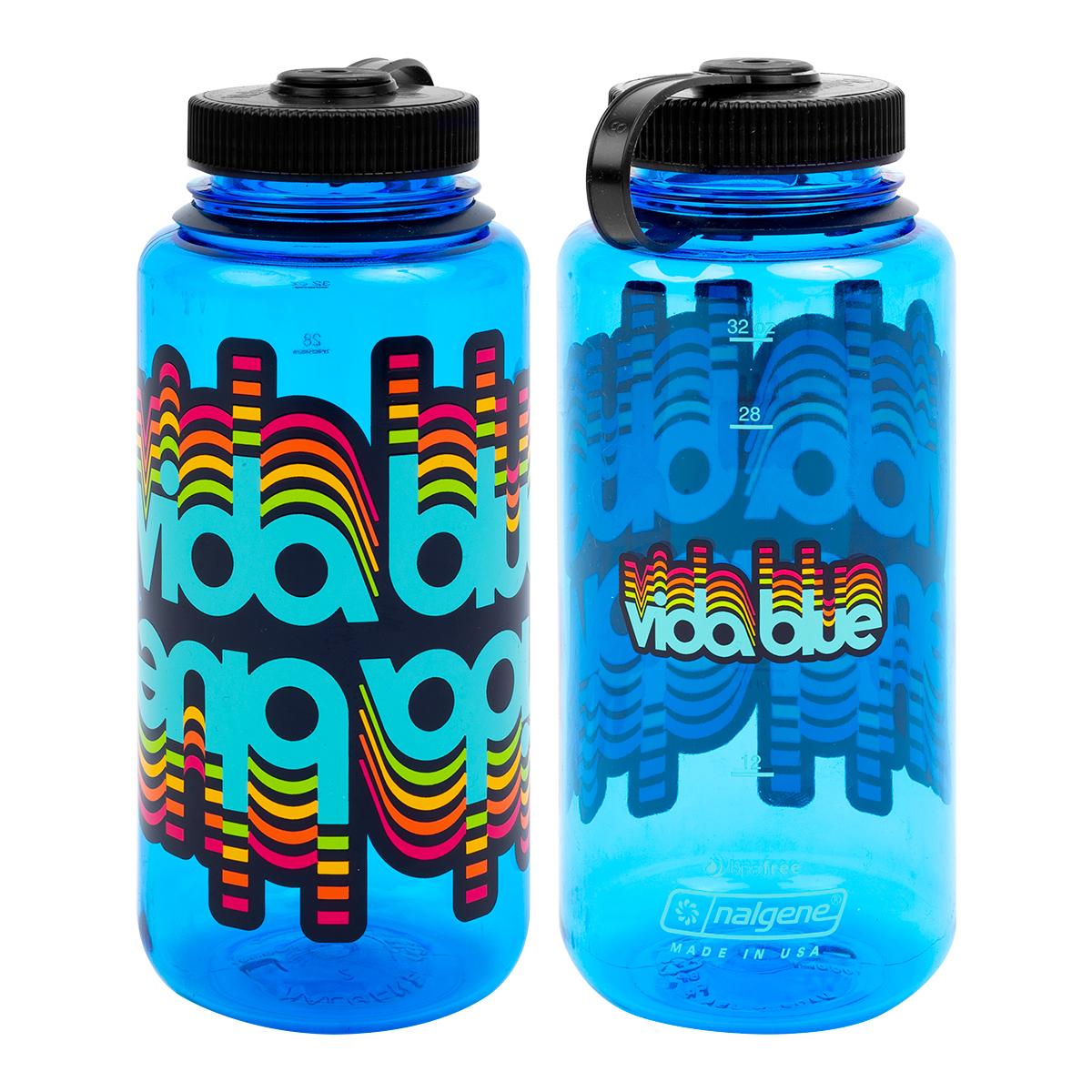 Vida Blue Glitch Nalgene Bottle