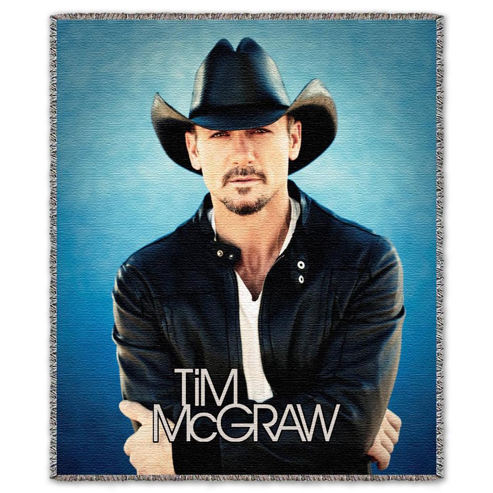Tim McGraw Blue Throw Blanket