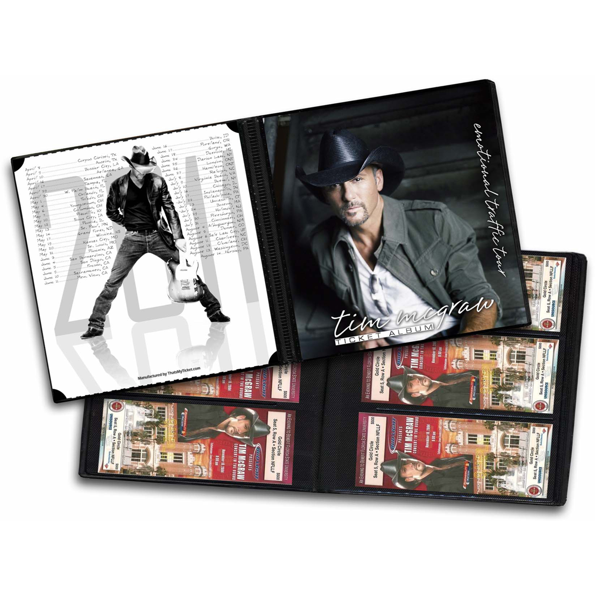 Tim McGraw Emotional Traffic Tour Ticket Album
