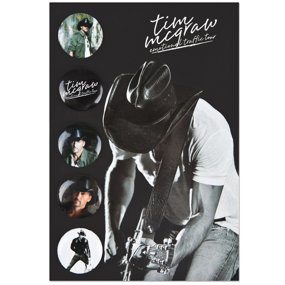 Tim McGraw Button Set w/Printed Backer Card