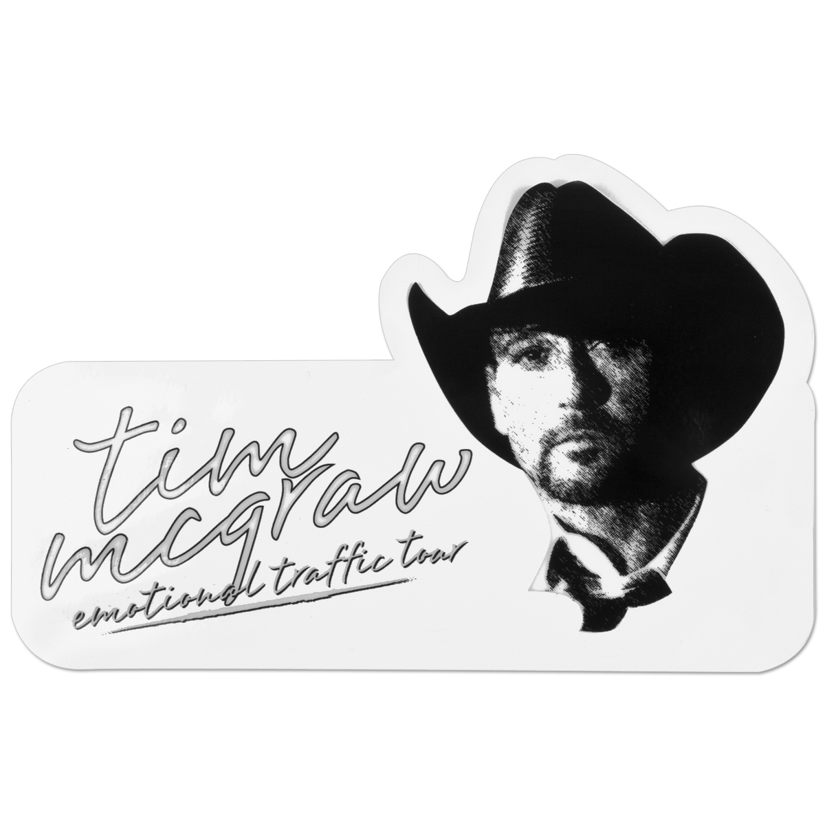 Tim McGraw Die-Cut Static Cling