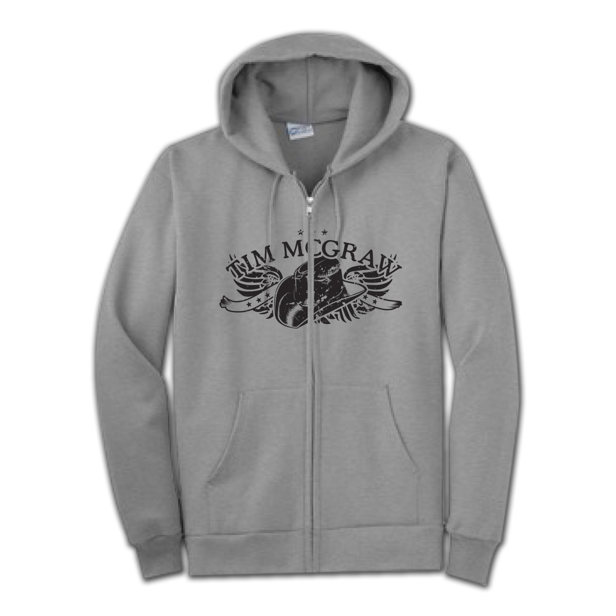 Tim McGraw Winged Hat Unisex Full Zip Hoodie