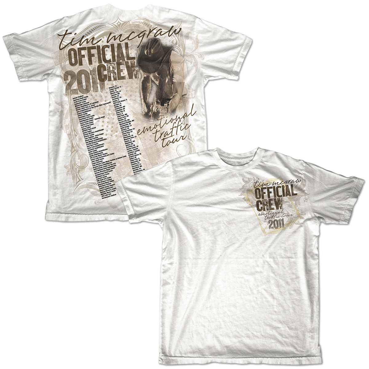 Tim McGraw Official Emotional Traffic Tour Crew T-shirt