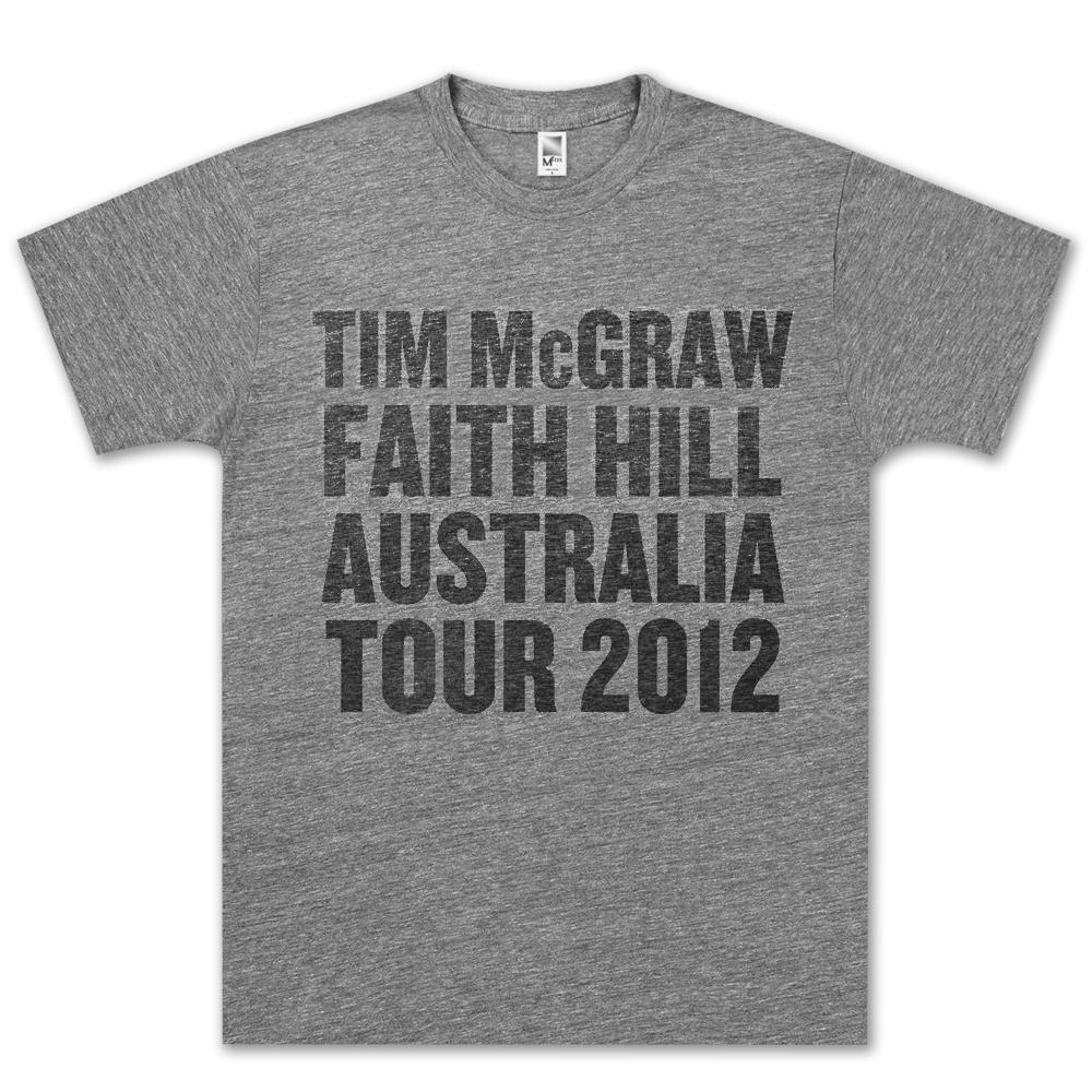 Tim McGraw/Faith Hill Australia Tour 2012 T-shirt