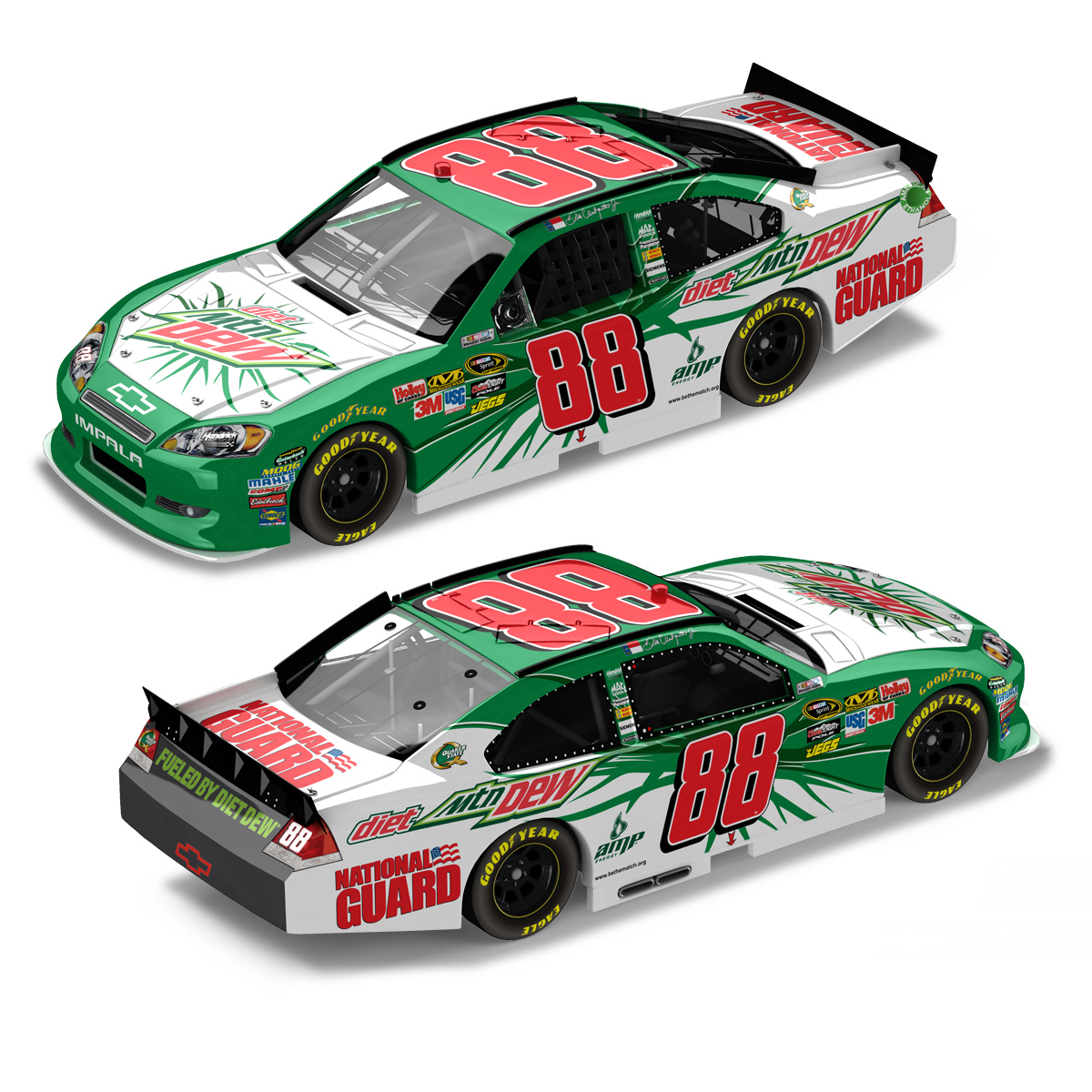 Dale Jr #88 Paint the 88 1:24 Scale DieCast