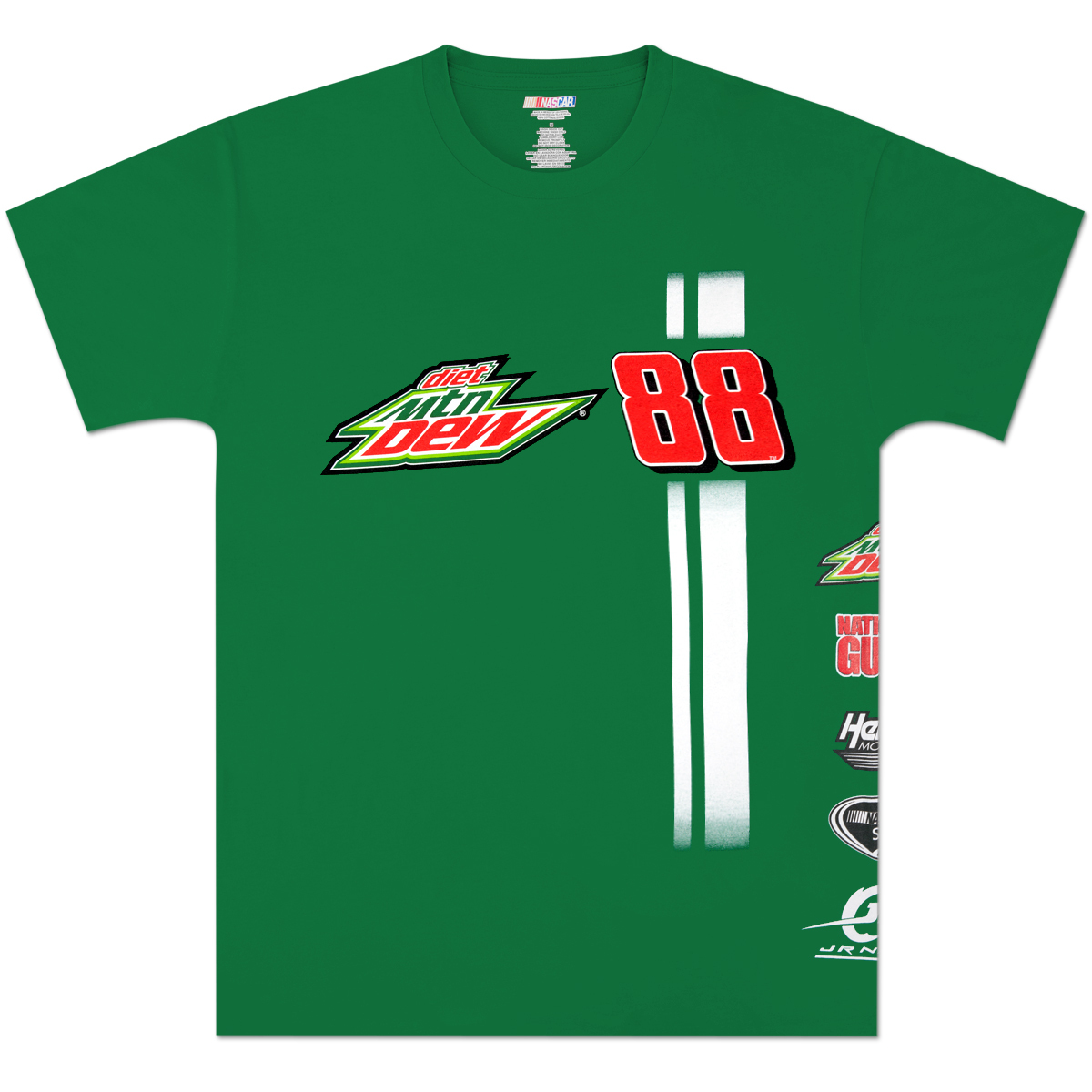 Dale Jr. Diet Mountain Dew Uniform Stripe T-shirt