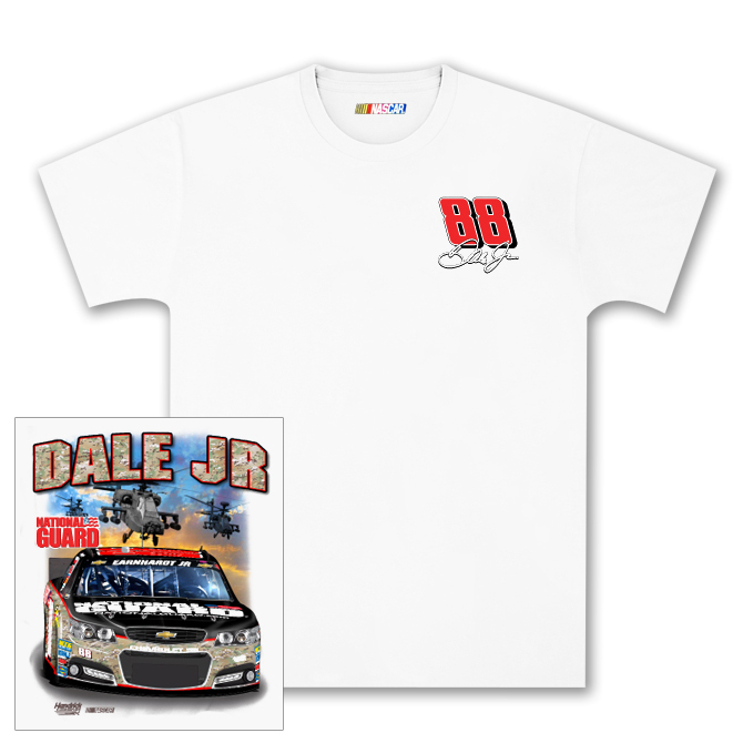 Dale Jr #88 National Guard Camo Charlotte T-shirt