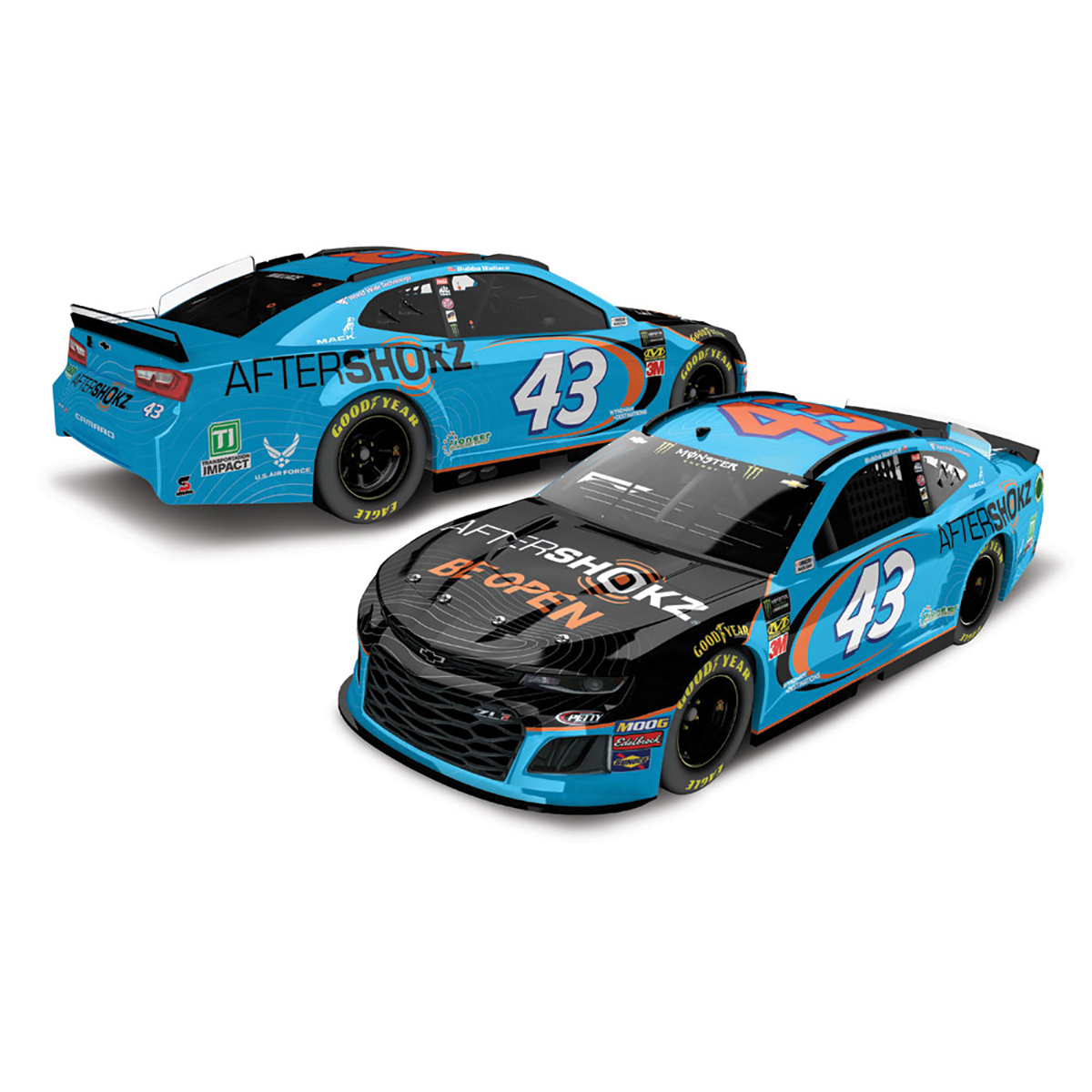 Bubba Wallace #43 2019 NASCAR Aftershokz 1:64 - Die Cast