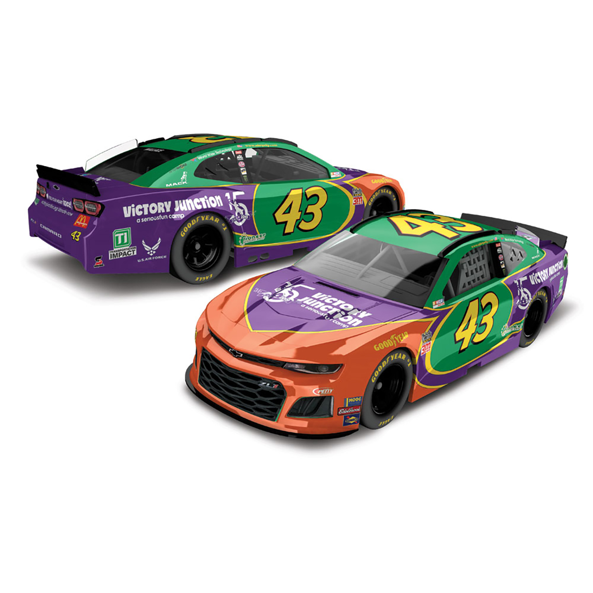 Bubba Wallace #43 2019 Victory Junction Darlington Monster Energy NASCAR Cup Series HO 1:24 - Die Cast
