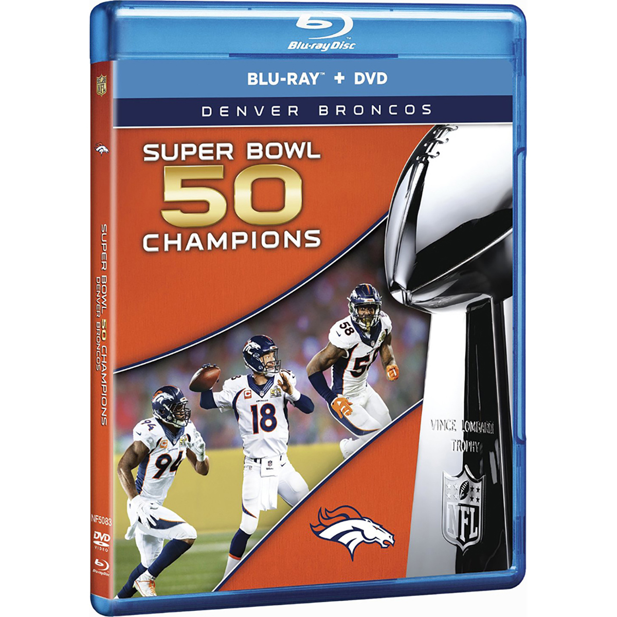 Denver Broncos: Super Bowl 50 Champions (Blu-ray + DVD) -  DVDs & Videos 3524-981067