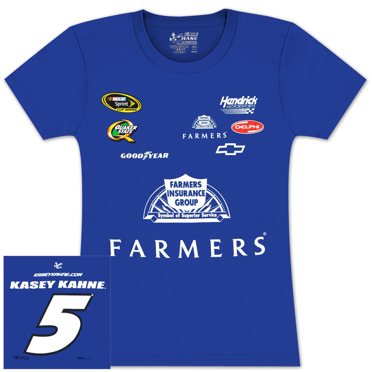Kasey Kahne Farmers Ladies Uniform T-shirt