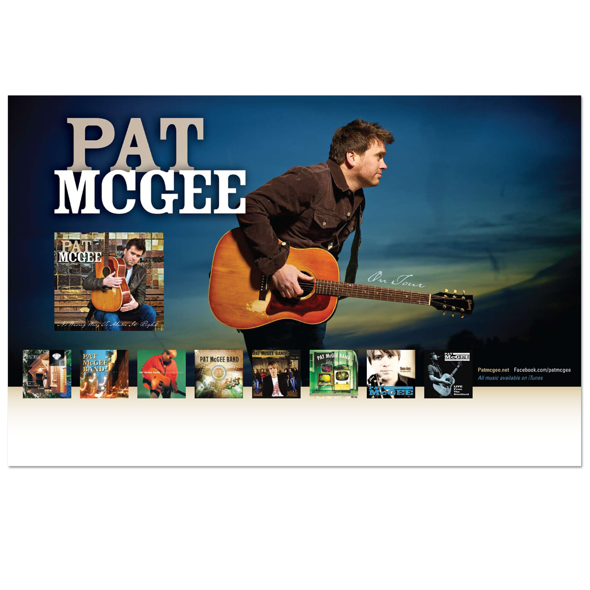 Pat McGee 2011 Tour Poster - Autographed