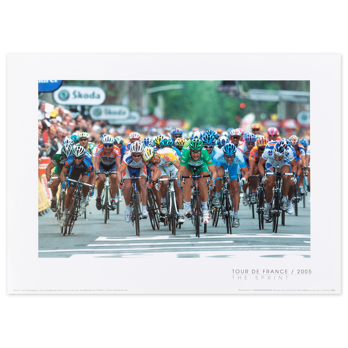 2005 Tour de France - The Sprint Mini Poster