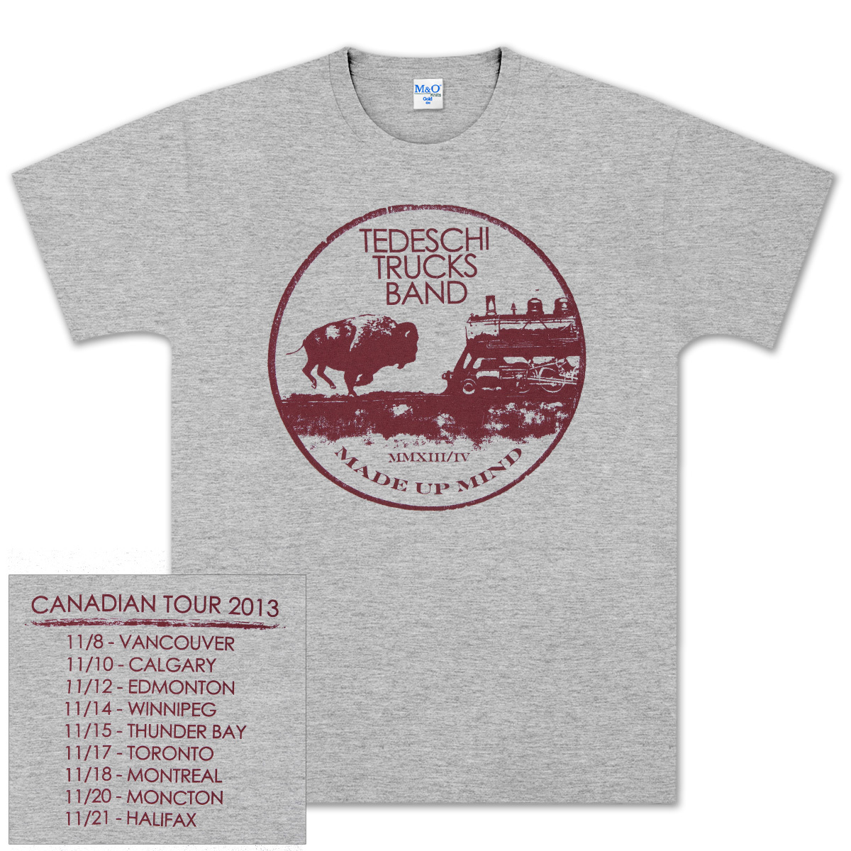 TTB 2013 Canadian Made Up Mind Tour Mens T - Heather Grey
