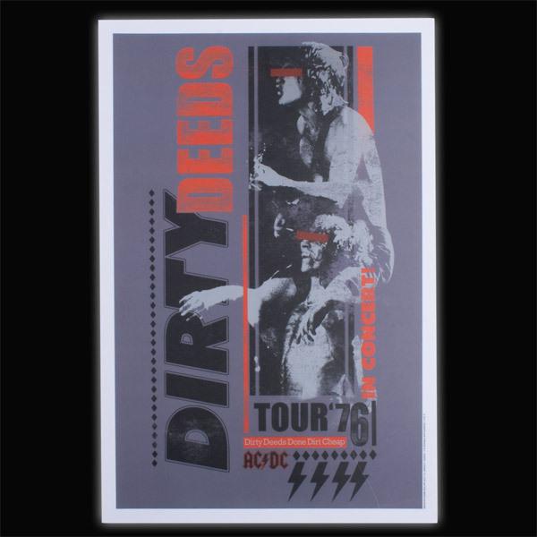 """AC/DC Dirty Deeds 12"""" x 18"""" Tour Poster"""