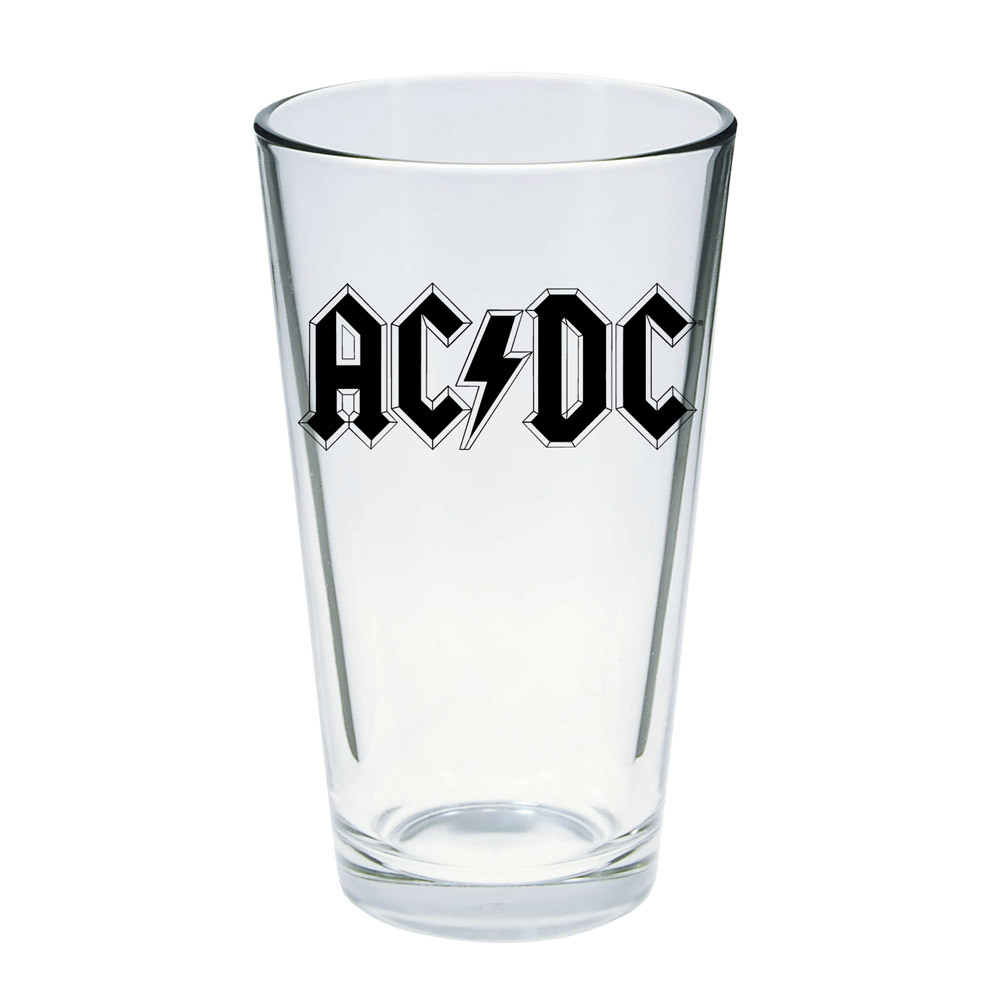 AC/DC Logo Pint Glass