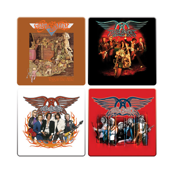 Aerosmith 4pc. Wood Coaster Set