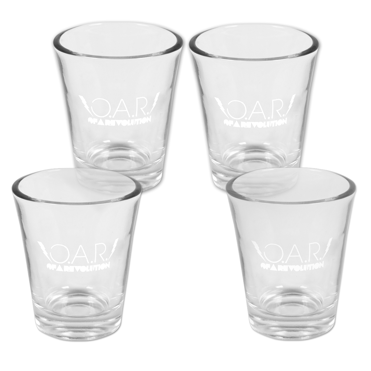 O.A.R. Lightning Bolt 1.75oz Shot Glass (Set of 4)