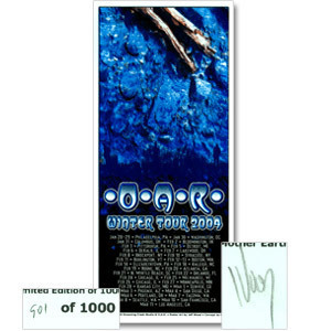 O.A.R. WINTER 2004 TOUR POSTER (Limited Edition, Signed & Numbered)