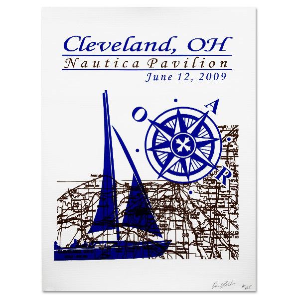 CLEVELAND OH - 6.12.09 NAUTICA PAVILION O.A. R. POSTER