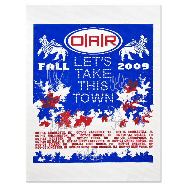 2009 O.A.R. FALL TOUR POSTER