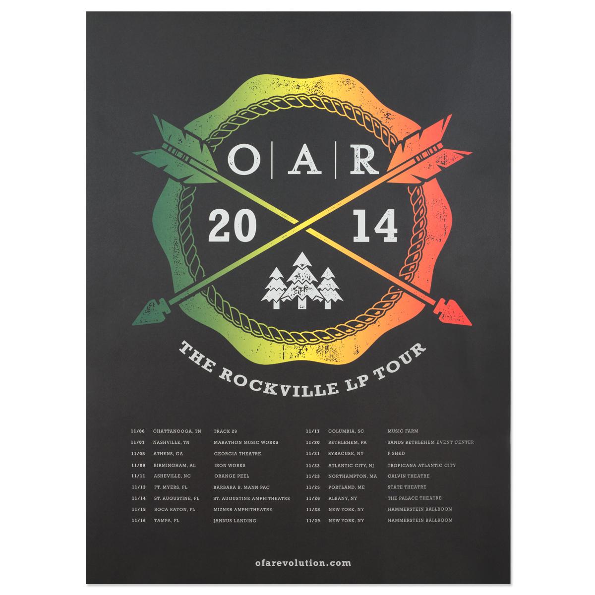 O A R The Rockville Lp 2014 Tour Poster Shop The