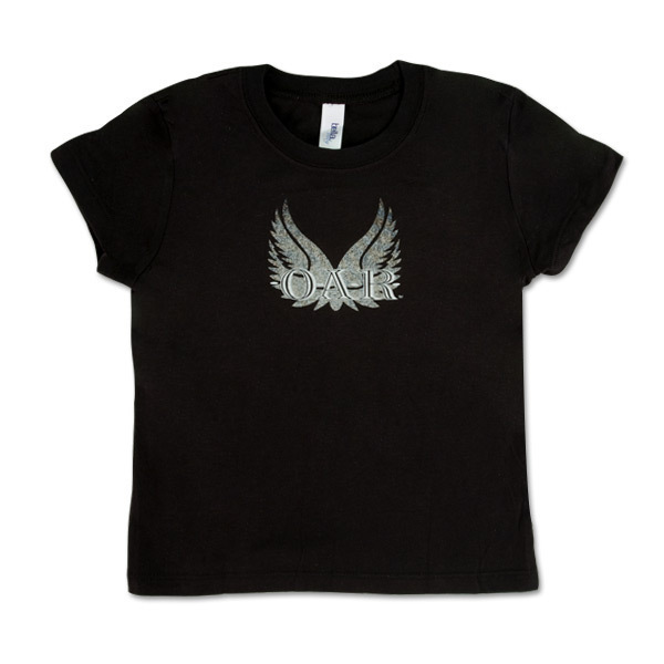 O.A.R. Wings Kid's T-Shirt in Black